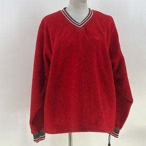 Champion Fleece vneck sweatshirt Drawstring L